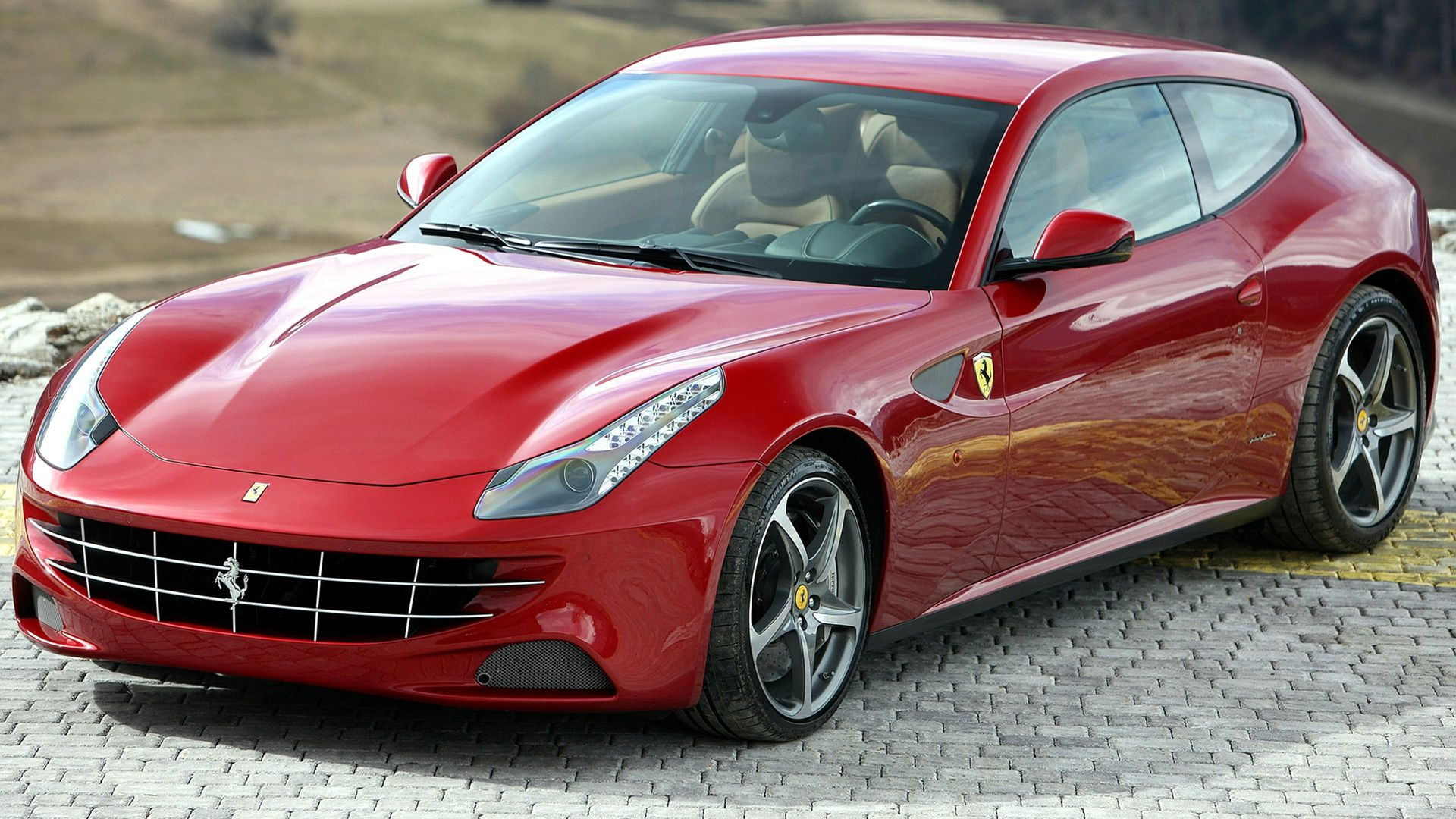 Ferrari Ff In Red On Hd Wallpapers From