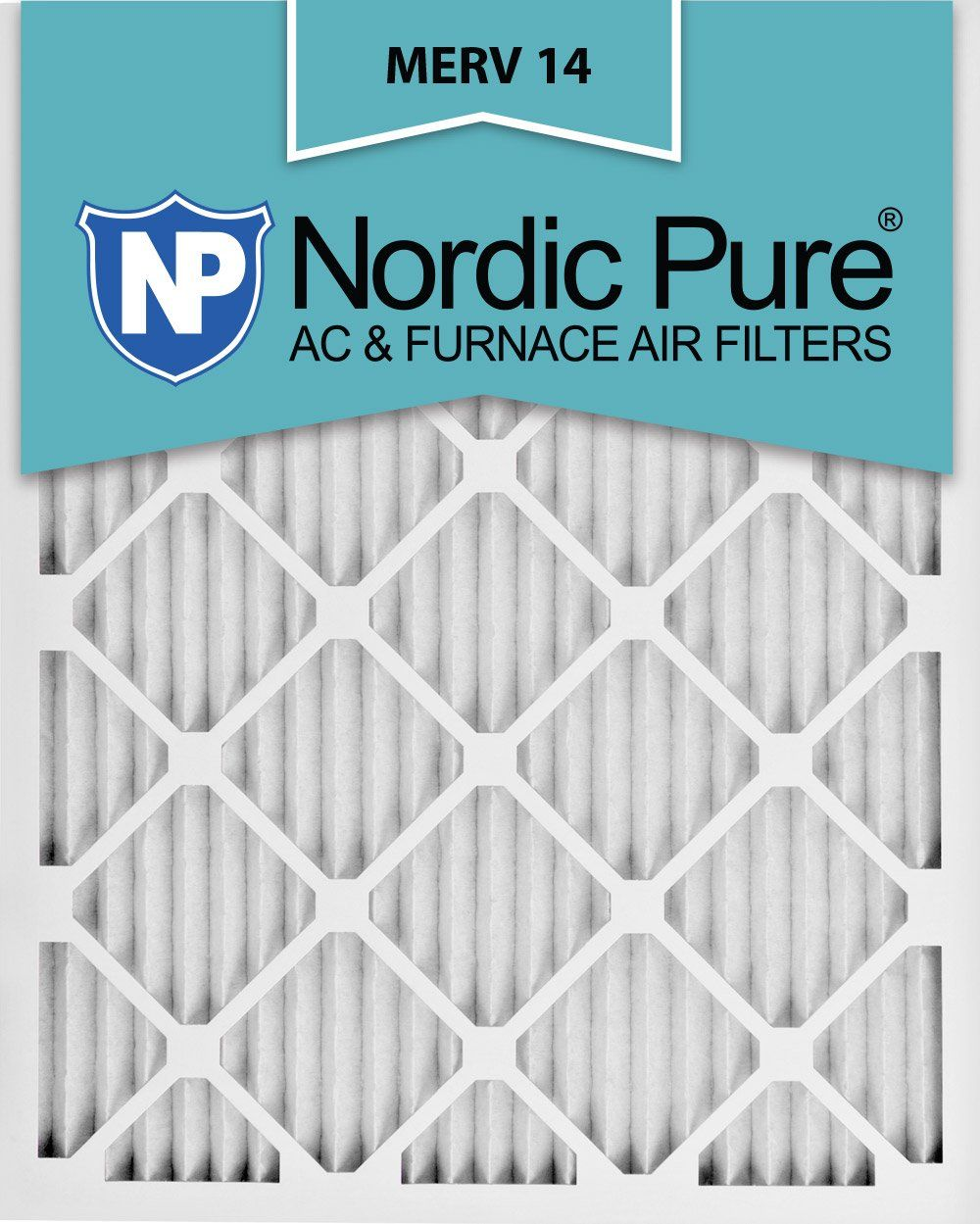 Nordic Pure 20x25x1 MERV 14 Pleated AC Furnace Air Filters