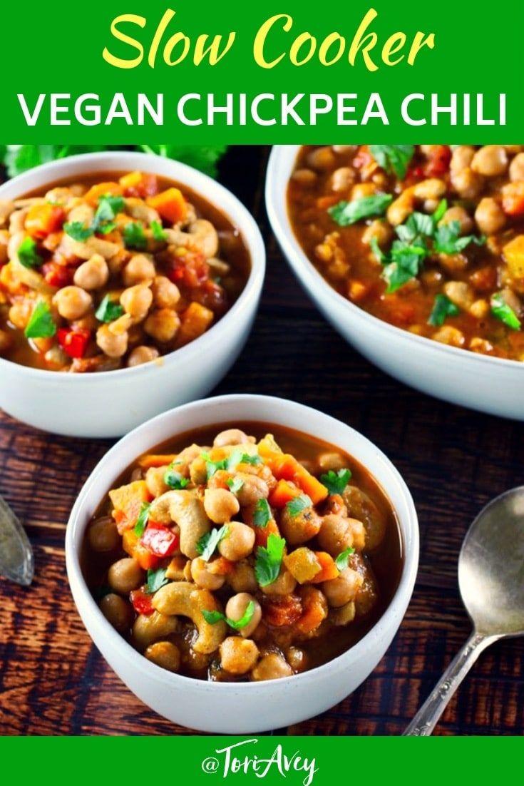 Slow Cooker Vegan Chickpea Chili Healthy Comfort Food You