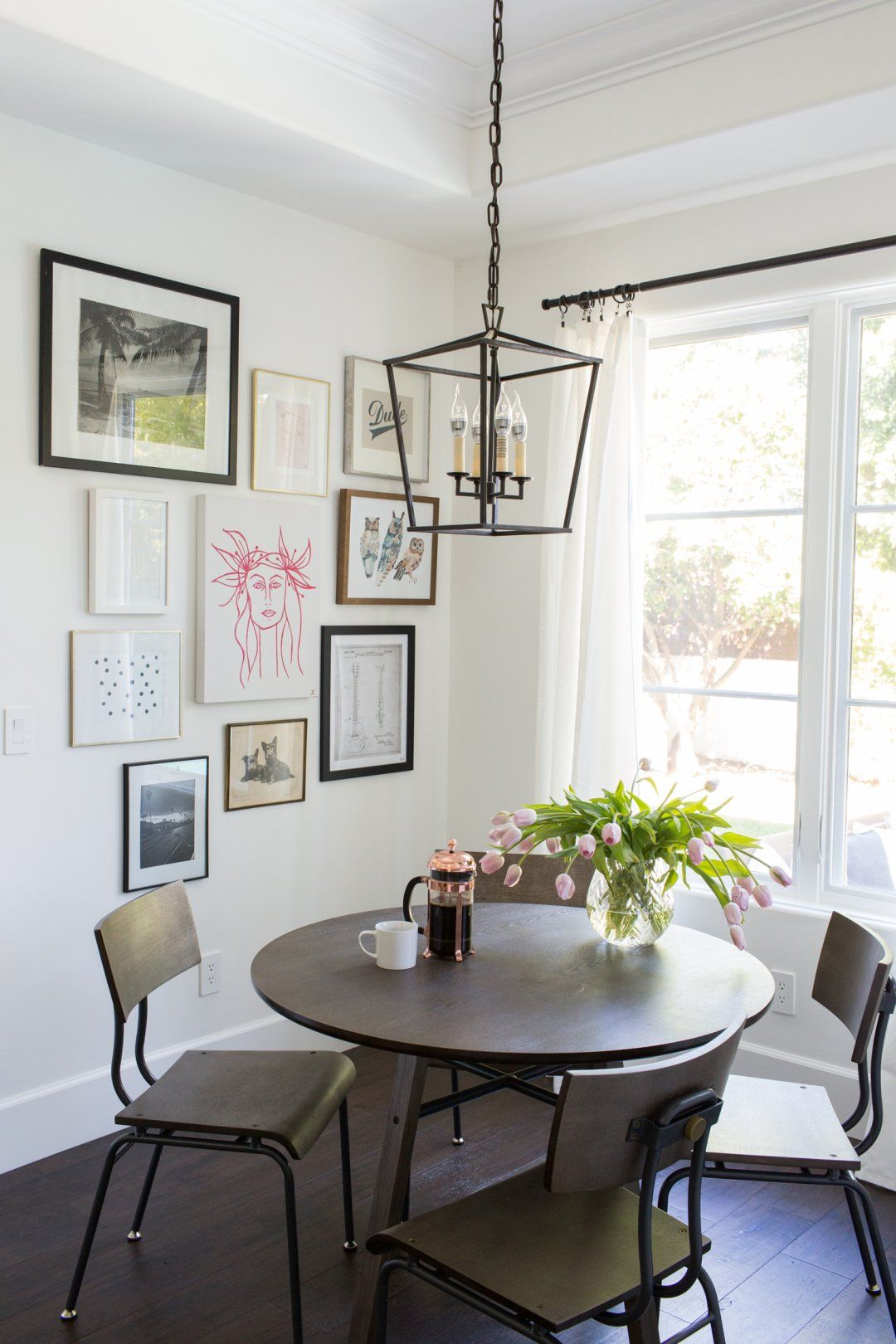 Brittany Snow Home Makeover | Small round kitchen table, Round ...