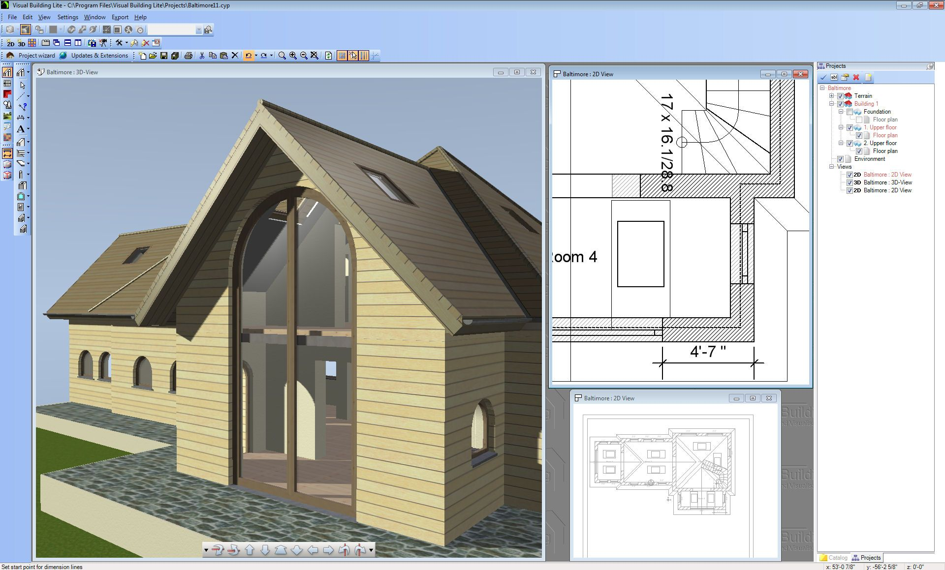 Best free floor plan software with 3d simple facade design for 3d home builder software