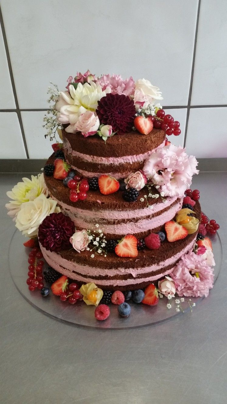 Naked Cake Hochzeitstorte Ohne Fondant Geburtstagstorte