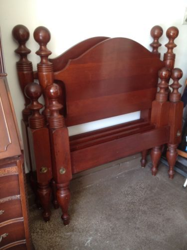 Craftique Twin Cannonball Beds (Pair) | Twins, Antique furniture ...