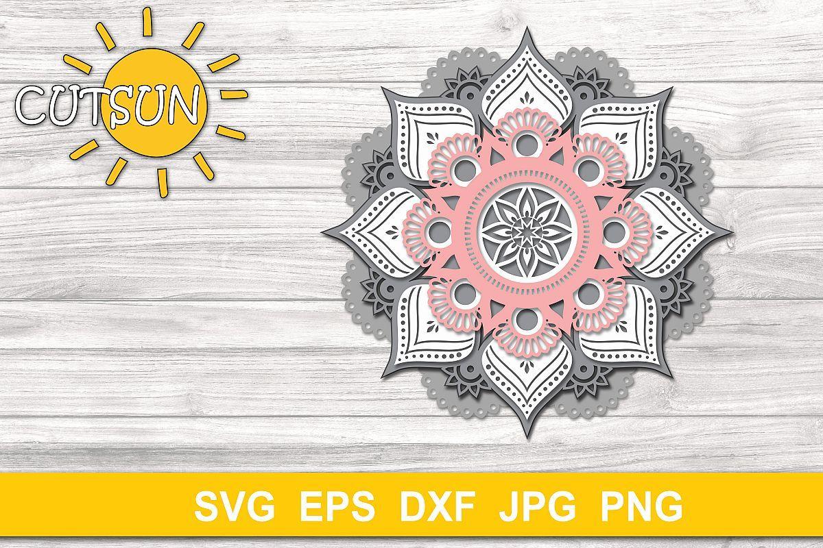Download Pin on 3D Layered SVG Designs - 3D Mandala Zentangle SVG