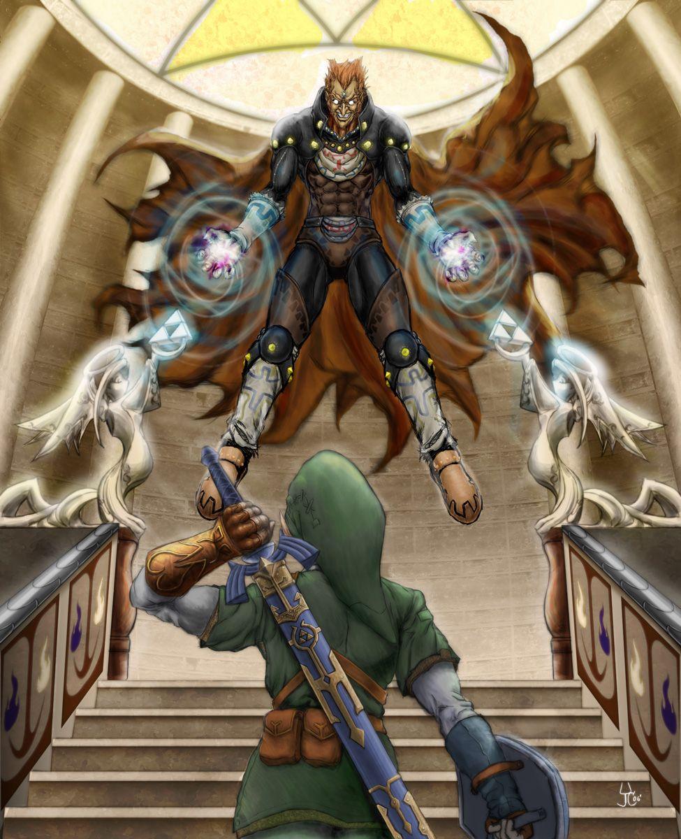 link vs ganon finished by leftee007 on deviantART Zelda