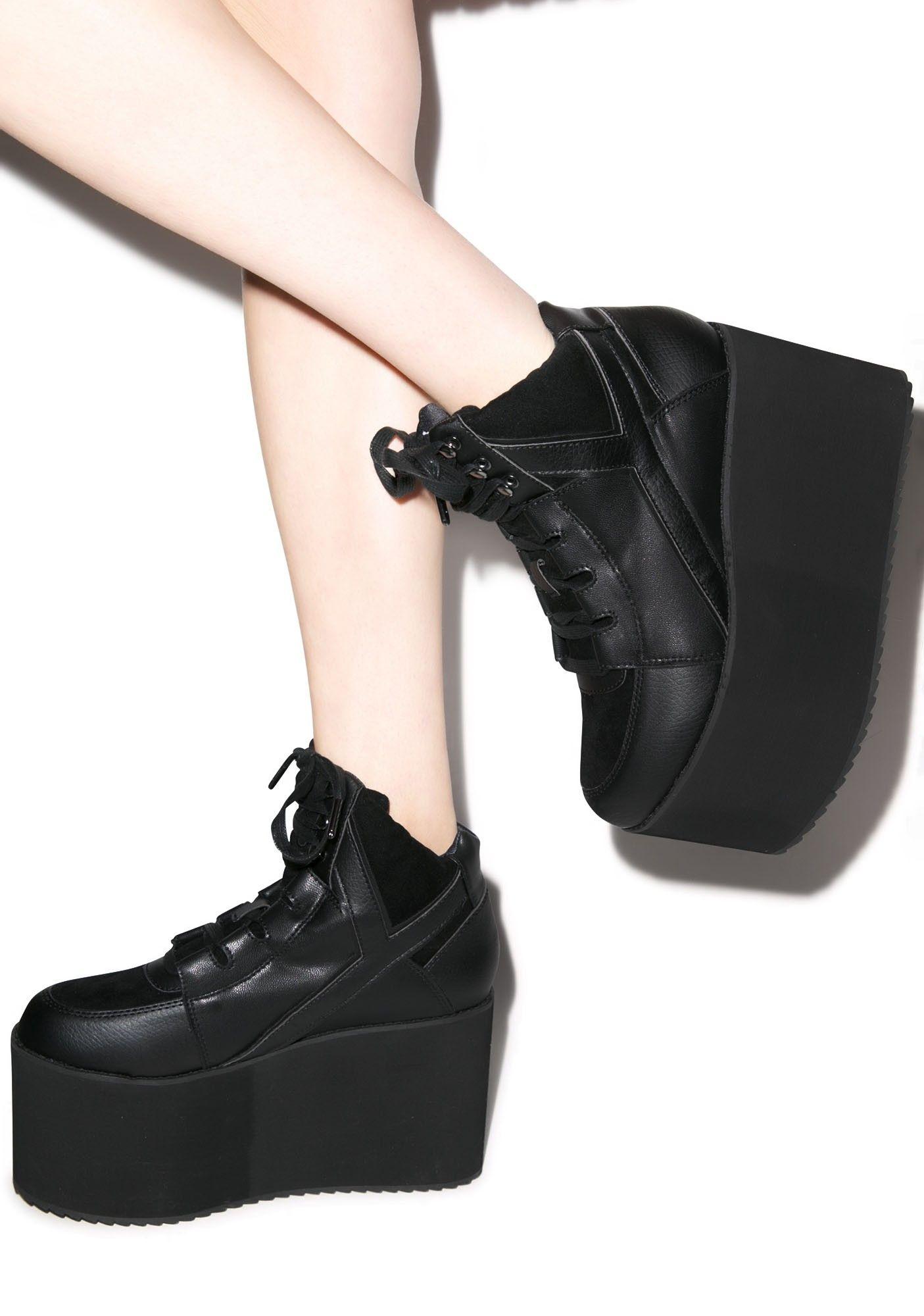 dcdfe750e827 Y.R.U. Qozmo Hi Platform Sneakers   Dolls Kill