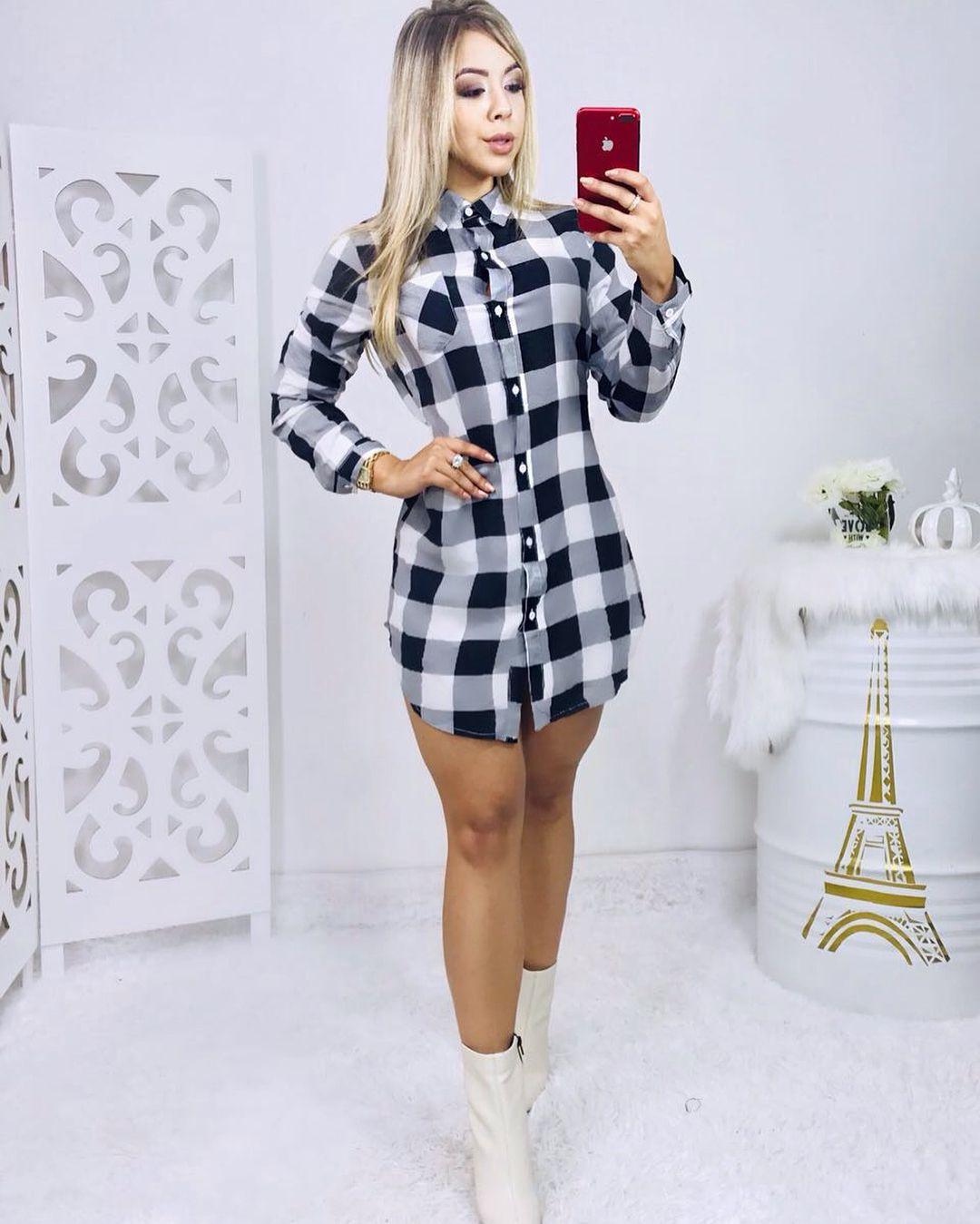 3b083cd17 Chamise Xadrez P ao GG . . Compras pelo whatssap ( link na bio) . .   tendencia2018  chamise  look  camisaxadrez  lookfeminino  roupasfemininas