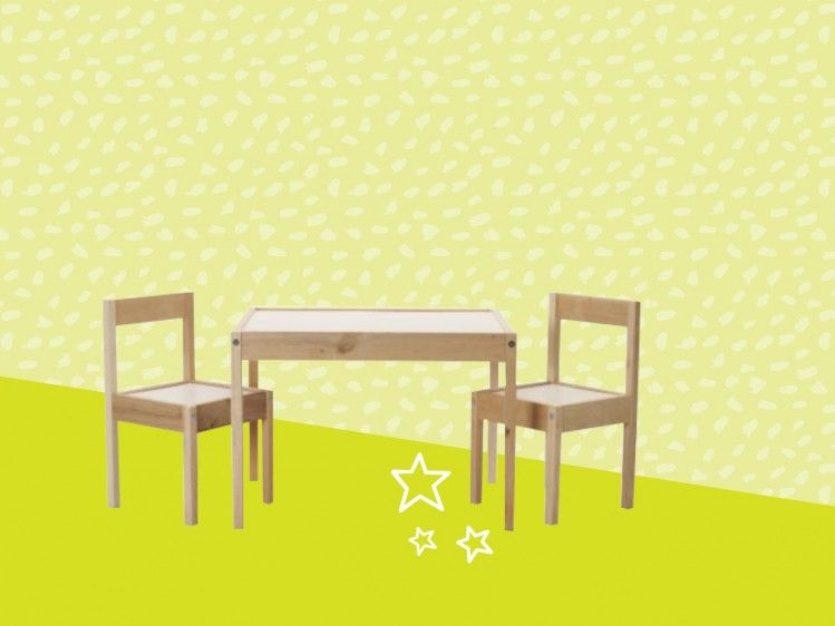 Pint-sized table and chairs