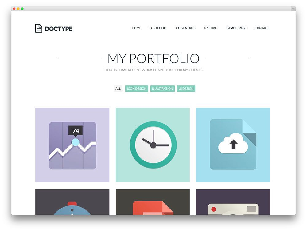 30+ Best Personal Portfolio WordPress Themes 2016   Colorlib  Portfolio Word Template