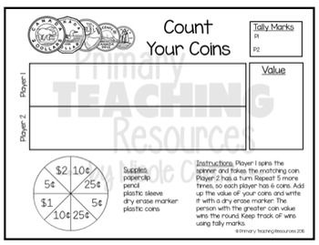 FREE Canadian Money Game: Count Your Coins | Education