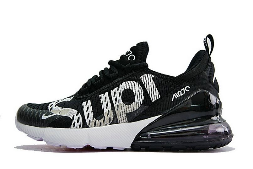 Supreme X Nike Air Max 270 Latest Styles 2018 Sup Black White Ah8050 001 72efaa1c3