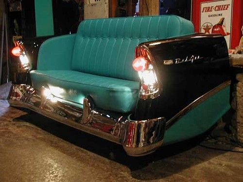 Incredible furniture made from classic car parts 06 my for Furniture made from cars