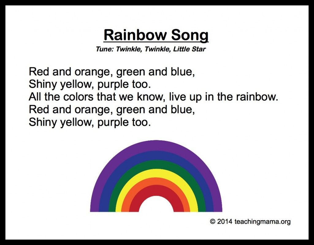 10 preschool songs about colors - Color Activity For Preschool