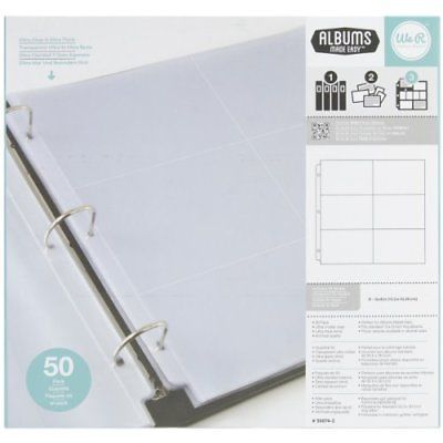 craft and paper racks 146402 12x12 inch 6 4x6 inch pockets 3 ring