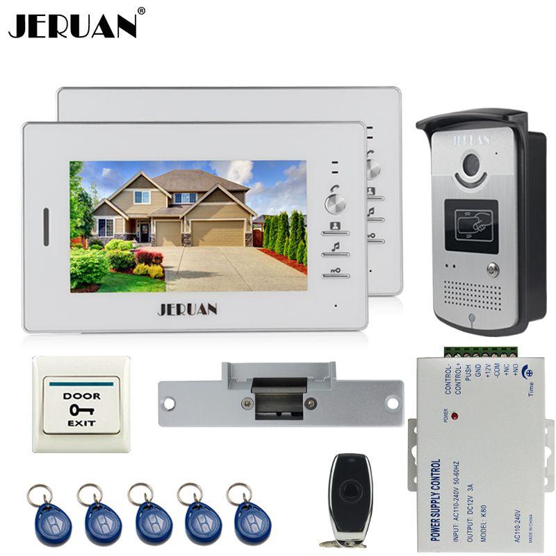 Jeruan 7 Inch Lcd Color Video Door Phone Entry Intercom System Kit 2