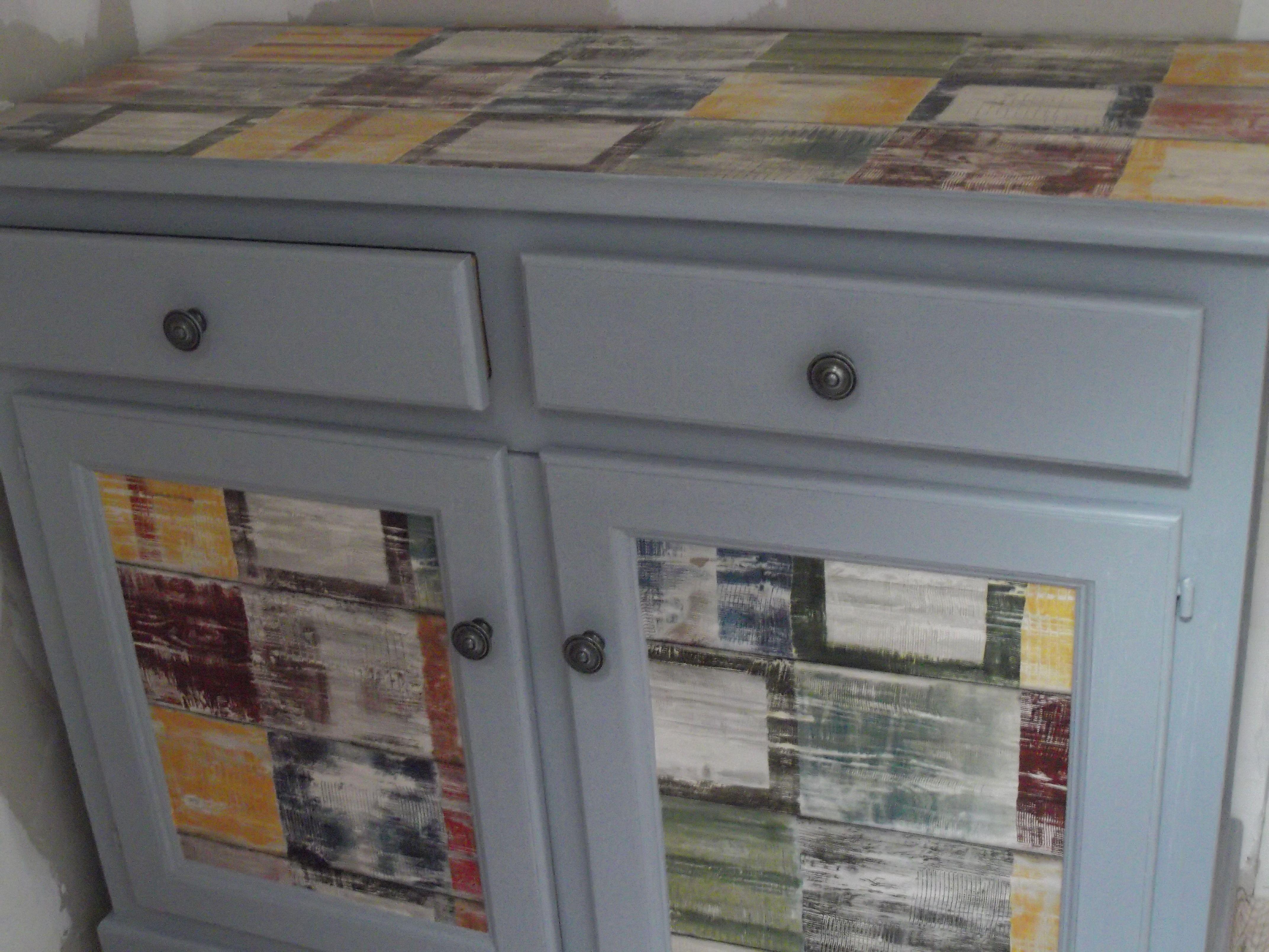 meuble bas relooke longueur 110 cm