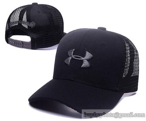 05f3e59a43 Under Armour Caps Adjustable Mesh Hats Snapback Caps Black Silver ...