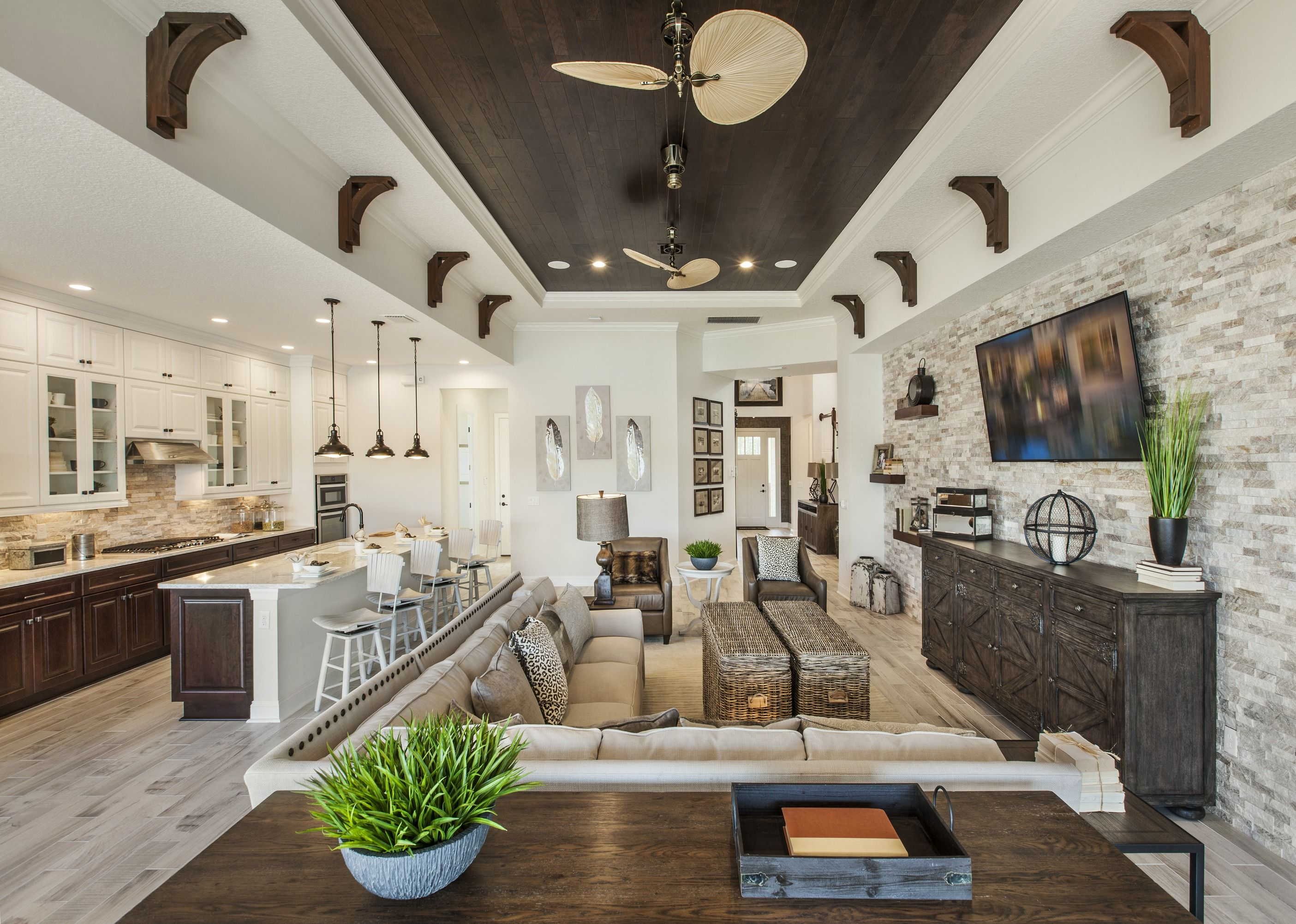 Craftsman Home Interior Design Concept indulge guests with sophisticated dishes in this open concept plan