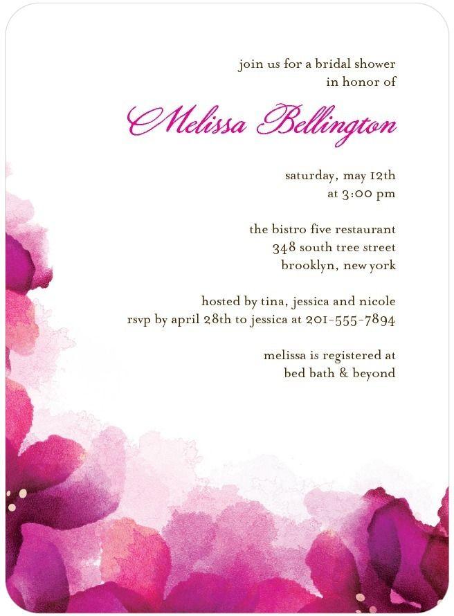 Signature White Textured Bridal Shower Invitations