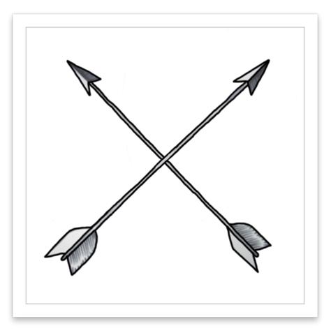 Double Arrows Arrow Tattoos Arrow Tattoos