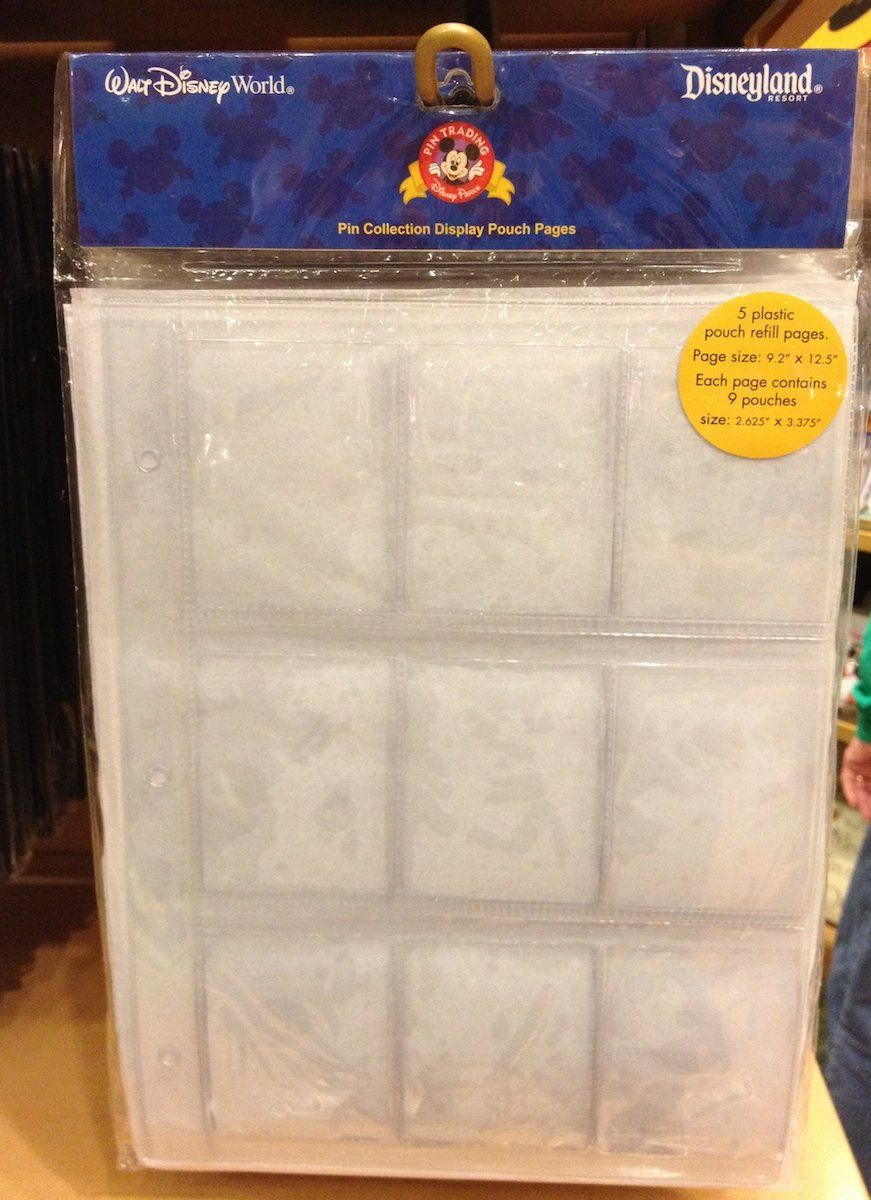 Disney Pin Trading Album Refill Pages With Pockets New Pin Trading