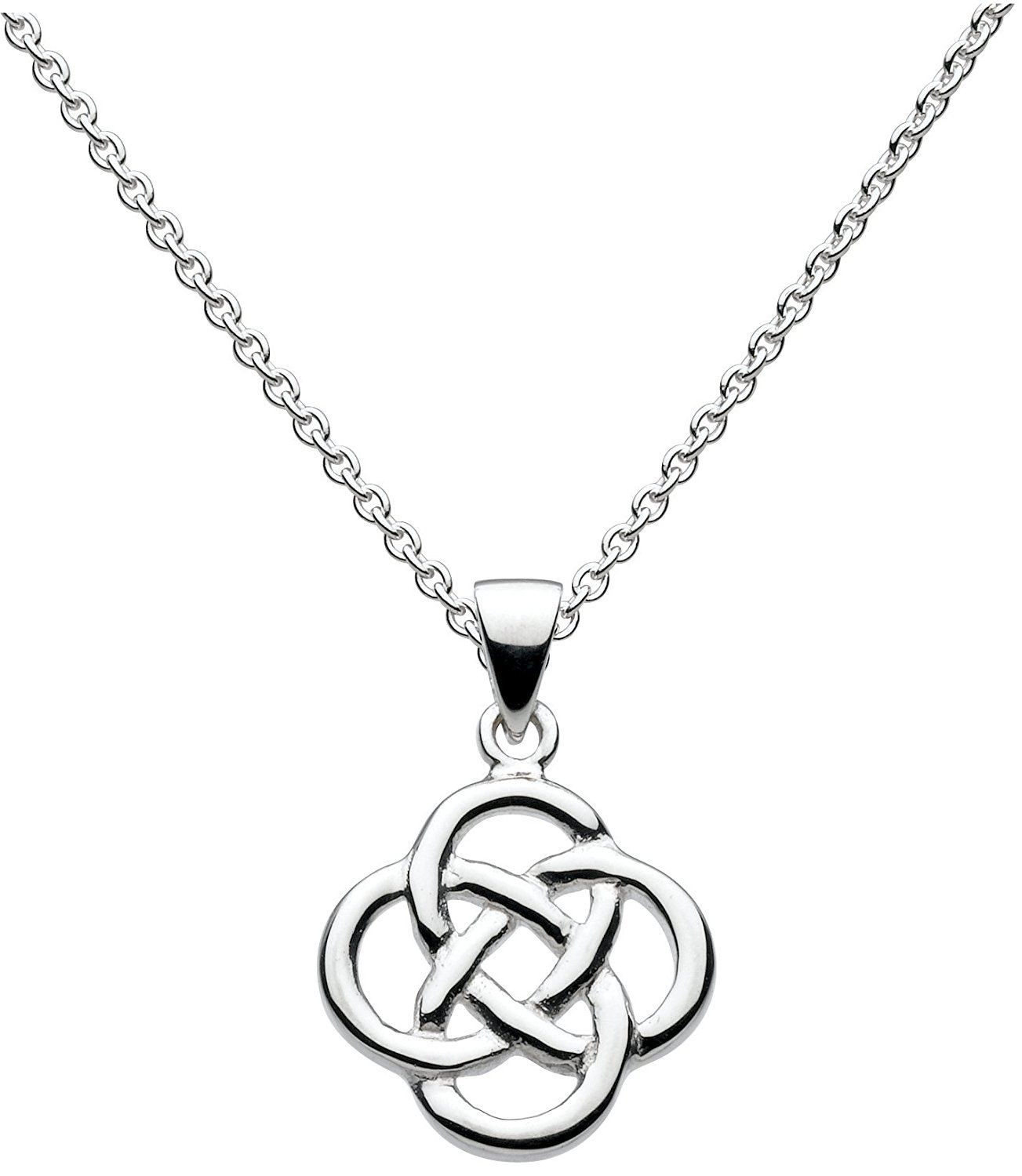 Heritage Women's Sterling Silver Celtic Knot Necklace of Length 18 inch 3NGalMA