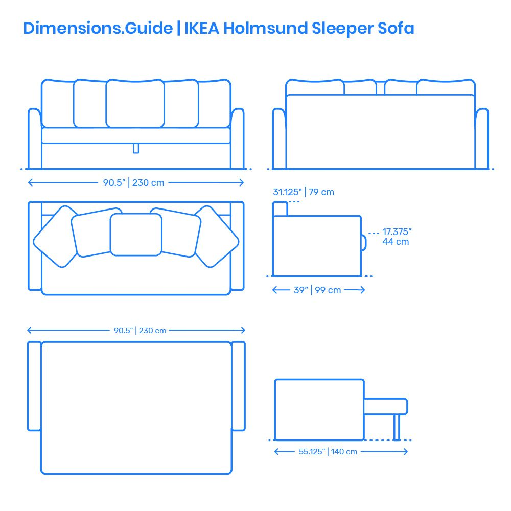 The Ikea Holmsund Sleeper Sofa Comes With Storage Space