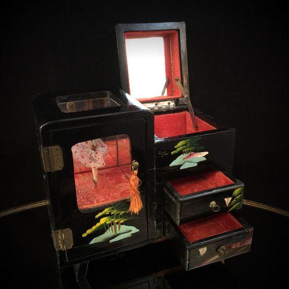 Vintage Japanese Box Japanese Music Box Japanese Jewelry Box Vintage