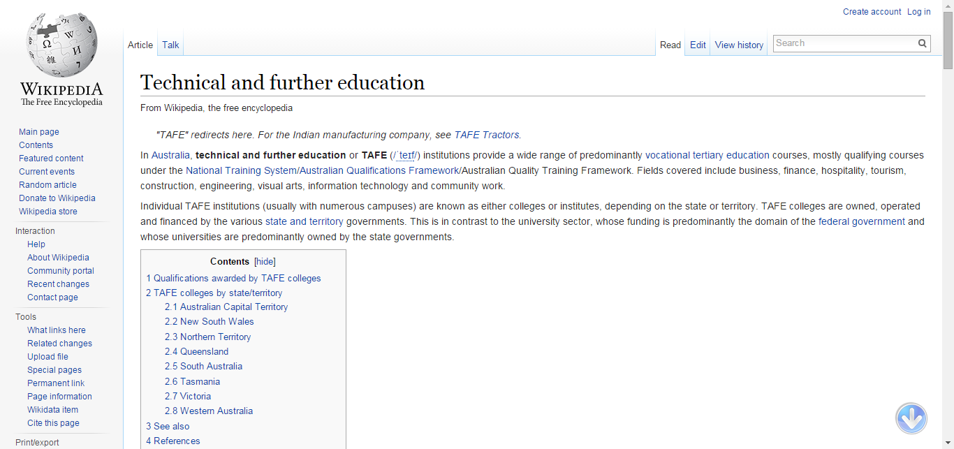 Technical and further education - Wikipedia, the free encyclopedia
