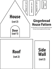 gingerbread house template printable a4  gingerbread house template pdf - Google Search in 7 ...