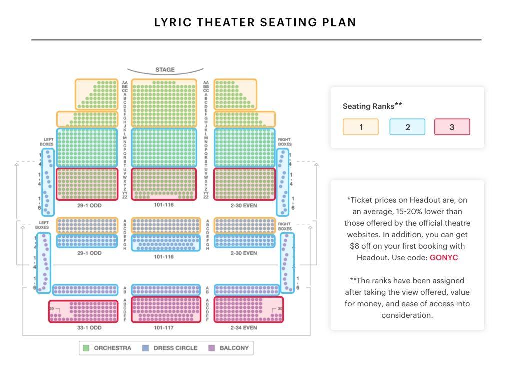 Sydney Lyric Theatre Seating Plan