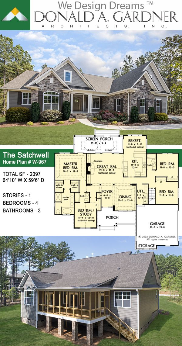 The Satchwell House Plan 967