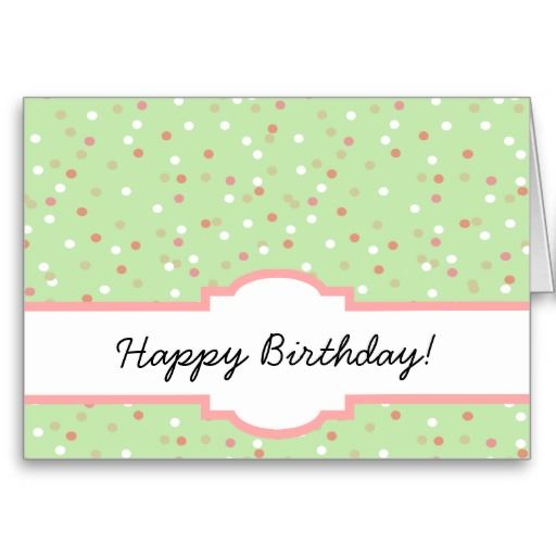 Confetti Cake • Green Buttercream Frosting Cards
