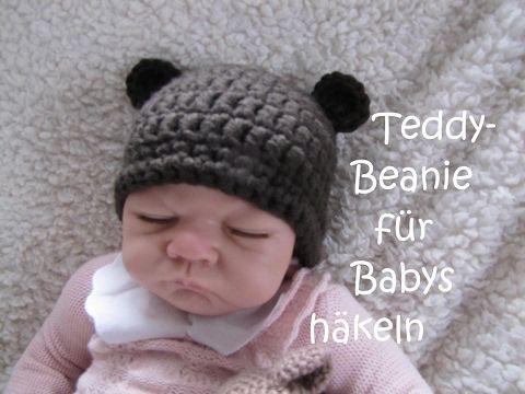 Teddy Bärchen Mütze Für Babys Häkeln Super Einfach Häkeln Für