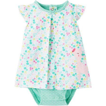 28d89fd405 Child Of Mine by Carters Newborn Baby Girl Sunsuit, Size: 24M, Multicolor
