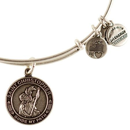 Alex And Ani St Christopher Patron Saint Of Travelers Expandable Wire Bangle