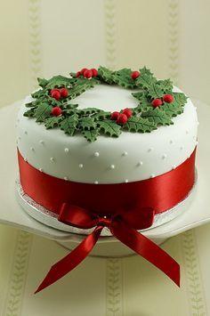 Sencilla y elegante tarta navideña.