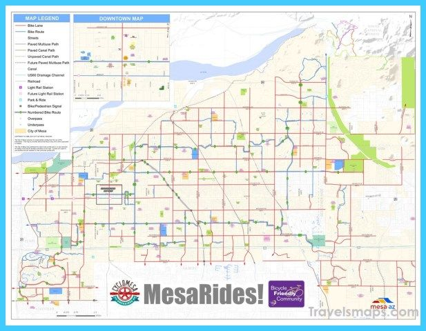 cool Map of Mesa Arizona | Travelsmaps | Map, Arizona