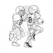 Standardmotiv Kinder Footballspieler Zweikampf  http://www.helm-pokale.de/american-football-c-3217-5.html