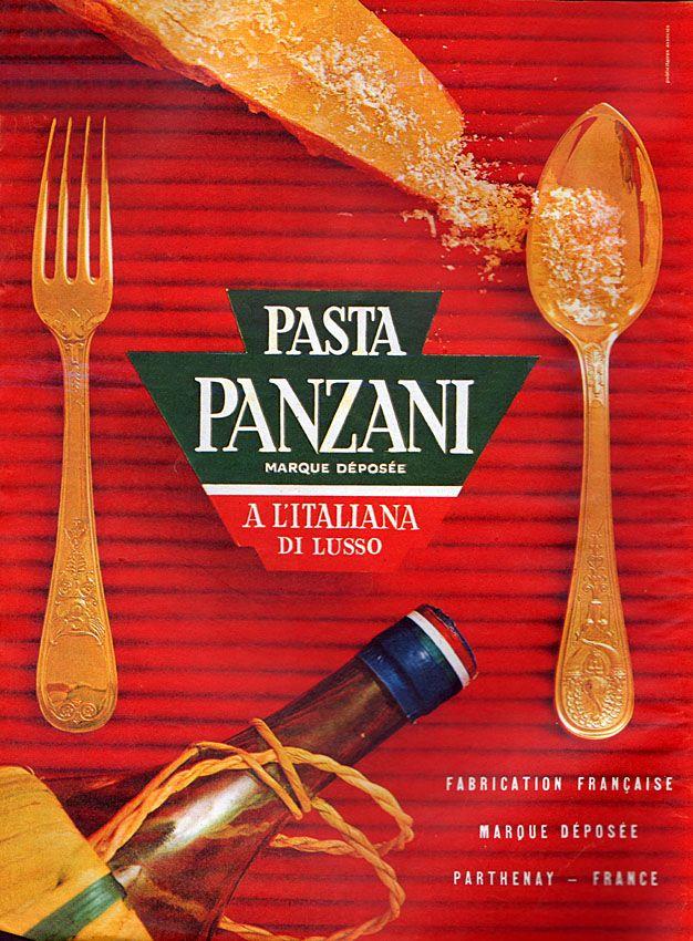 Publicité Panzani - 1961 - pâte - Parthenay - France -