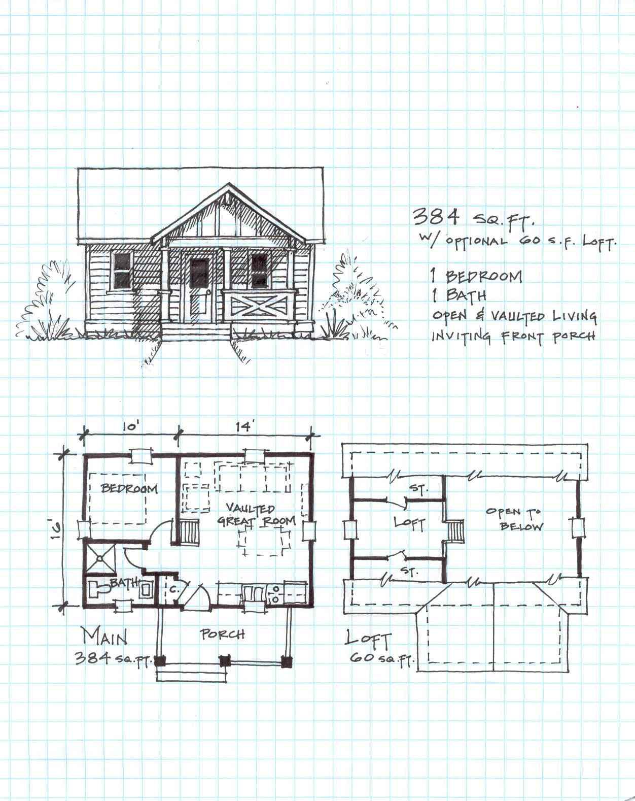 Garden Cottage E   One Level With Loft    Free Small Cabin Plans That Will  Knock Your Socks Off : Thesurvivalistblog