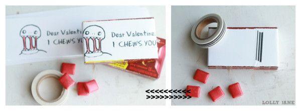 """""""I Chews You"""" zombie valentine, funny!! #zombievalentine"""