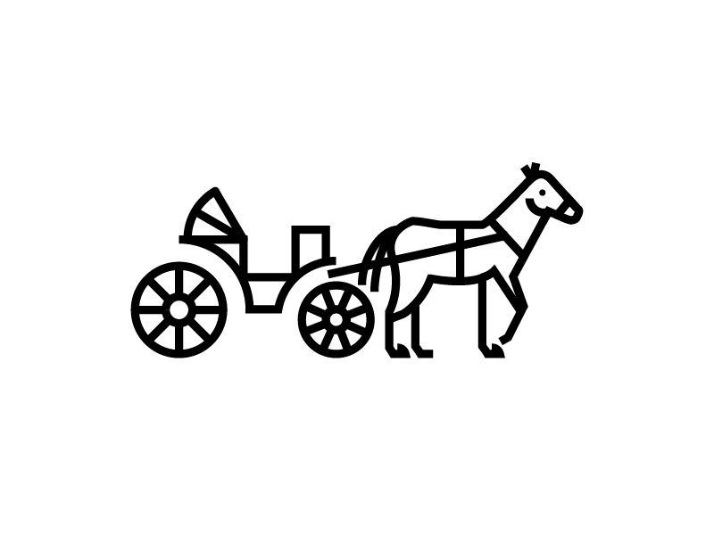 Horse Carriage Icon Horse Carriage Icon Cart Icon