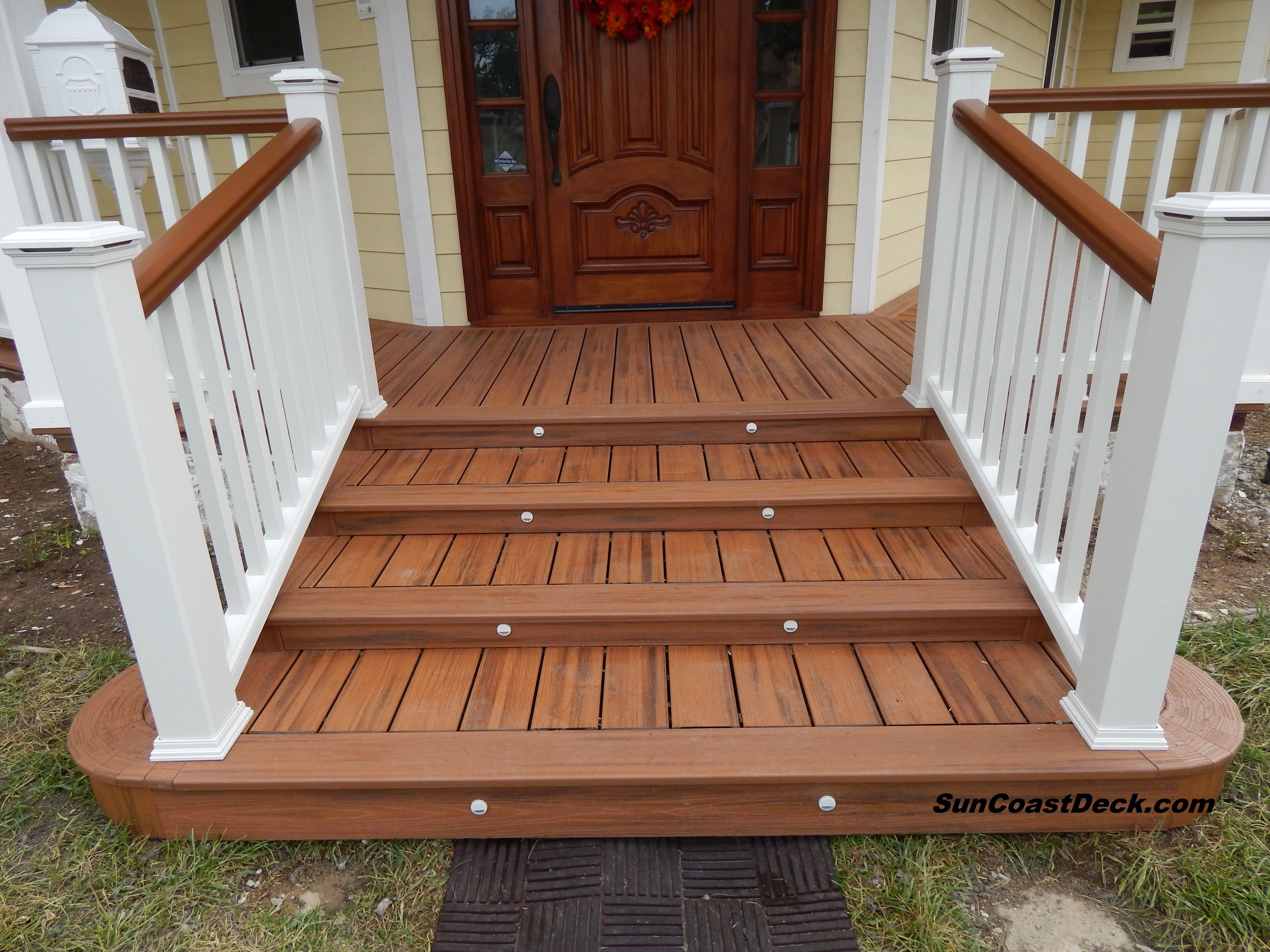 Best Trex Transcends Tiki Torch With Custom Curved Steps 400 x 300