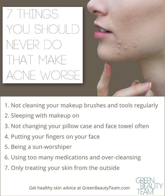 Things that make acne worse