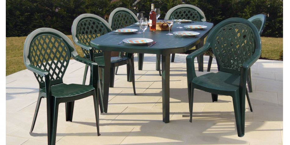 Salon Jardin Miami Grosfillex Table 6 Chaises Madison