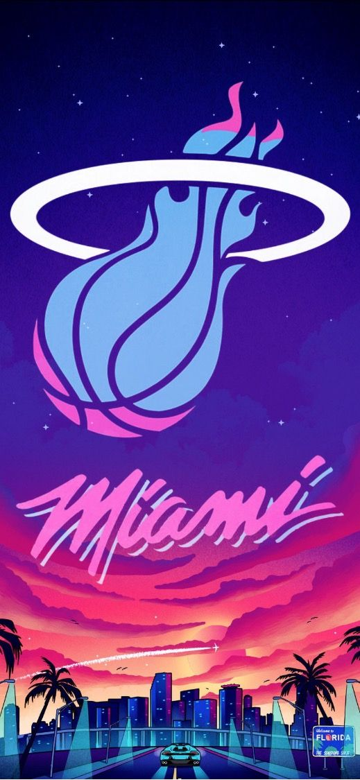 Miami Heat Wallpaper Basketball Wallpaper Nba Wallpapers Basketball Art