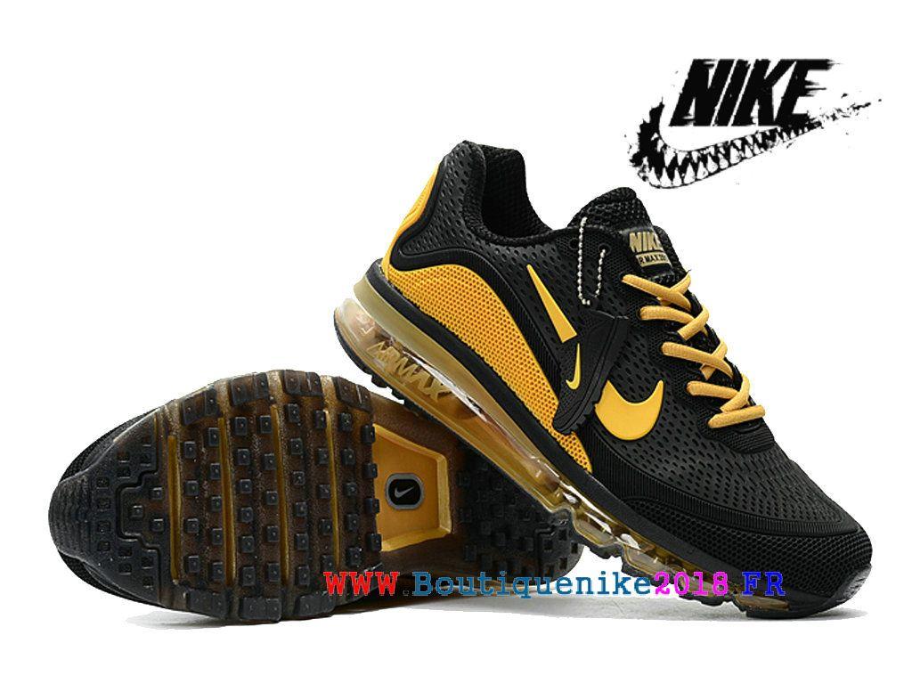 reputable site 216ab 4f4bd Nike Air 2017.5 Max Kpu Chaussures De Course Sneakers à Vendre Hommes Noir    jaune d