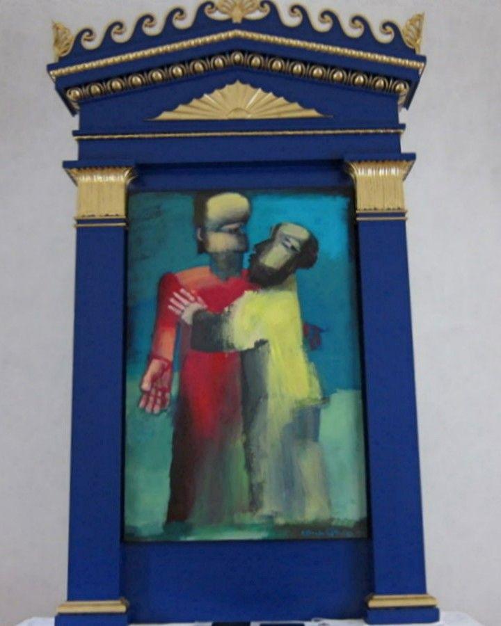 Bederslev Kirke Fyn Altermaleri Af Arne Haugen Sorensen Judaskysset Kirke Malerier Kultur