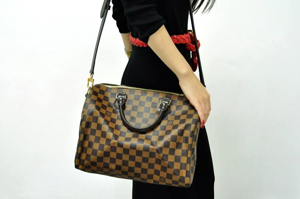 3098baef524e LOUIS VUITTON SPEEDY BANDOULIERE 30 DAMIER EBENE | Winter fashion ...